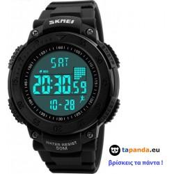 Ρολόι με βηματομετρητή χειρός ανδρικό SKMEI 1238 BLACK