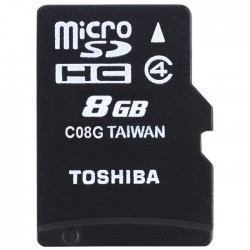 TOS MICROSD 8GB M102 CLASS 4 WITH ADAPTER NEW