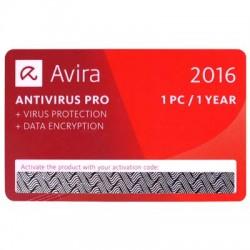 AVIRA ANTIVIRUS PRO CARD 2016 1 DEVICE 1 YEAR